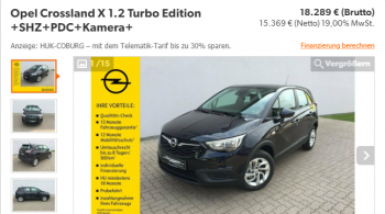 Opel Crossland X 1.2 Turbo Edition