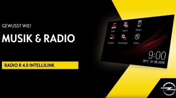 OPEL – RADIO R 4.0 INTELLILINK