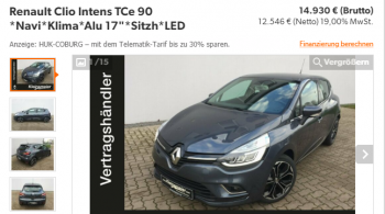 Renault Clio Intens TCe 90