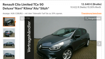 Renault Clio Limited TCe 90
